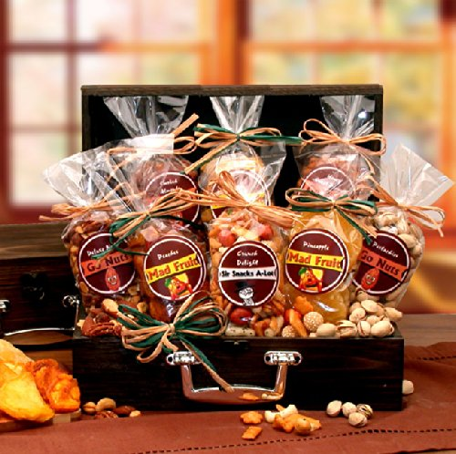 Gourmet Dried Fruit & Nuts Gift Chest - Great Gift for Her