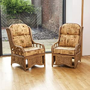 Penang Conservatory Cane & Seagrass Chair Choice of Colours 2 Pack