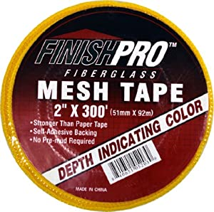 Finish Pro 5-203 Fiberglass Mesh Joint Tape, Yellow 2-Inch X 300-Foot
