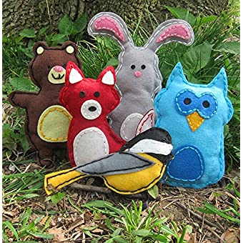 Woodland Animals Craft Kids Sewing Kit Perfect Gift For Girls And