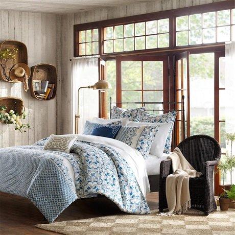Harbor House Haven Mini Duvet Cover Set, King, Blue