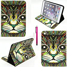 buy Ipad 4 Case, Casemart New Full Protective Premium Pu Leather Folio Stand Cover Case Wallet Style [Scratch-Resistant] Flexible Shell Case For Apple Ipad 2/3/4 -Cat