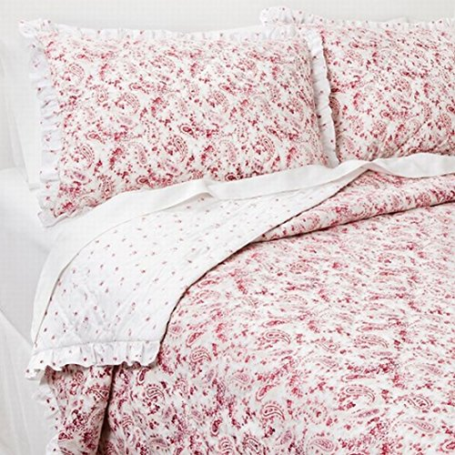 Simply Shabby Chic Pretty Pink Floral Paisley King Bed Quilt