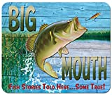 Fishing Large Mouth Bass - Mouse Pad from Redeye Laser works