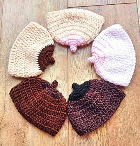 [Boobie Beanie, Breast Comedy Hat, Crochet Boob hat in Sizes from Preemie Baby through to Adult.] (Best Womens Comic Con Costumes)