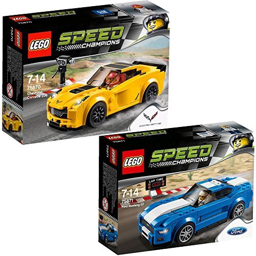 lego-speed-champions-2pcs-set-75870-75871-chevrolet-corvette-z06-ford-mustang-gt-by-lego