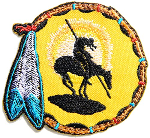 Native American Indian Feather Dreamcather Biker Rider Hippie Punk Rock Heavy Metal Tatoo Patch Sew Iron on Embroidered Sign Badge Costume