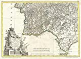 Vintage1775 Zannoni Map of Southern Portugal, the Algarve, and Seville - 18 x 24in Fine Art Print