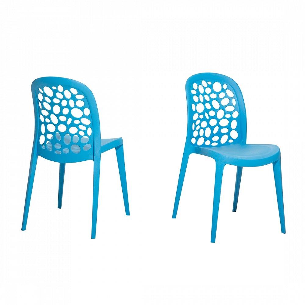 Gartenstuhl Blau Plastikstuhl Stuhl Aus Kunststoff Rubin Günstig