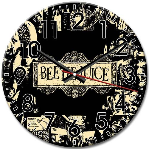 Reliable Decorative Beetlejuice tv Frameless Round Wall Clock Silent Arabic Numbers 10 Inch / 25 cm Diameter