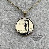 Us-DeSiGn : NL-0360 Hangman necklace noose gothic creepy necklace jewelry artpendant