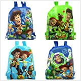 4pcs Toy Story party bags Kid drawstring backpack bags school bag cartoon bag party gifts