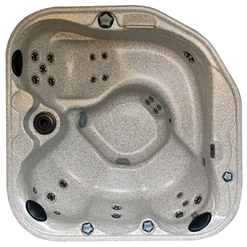 aura 29 jet 120 volt taupe interior plug and play operation hot tub with hard cover