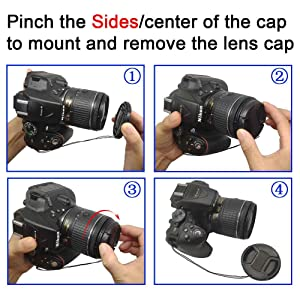 67mm Lens Cap Cover for AF-S Nikkor 85mm f/1.8G,AF-S 18-140mm f/3.5-5.6G,AF-S 18-300mm f/3.5-6.3G Lens for Nikon D7200 D7100 D7000 D800 D850 D810 D600 D90 D5300,ULBTER Lens Cap Lens Cover - 3 Pack (Color: 67mm-A)