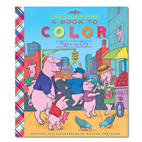 eeBoo Pigs in the City Color Book