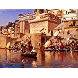 The Museum Outlet - Edwin Lord Weeks - On The River Benares - Canvas Print Online (24 X 18 Inch)