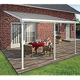 Hochwertige Aluminium Terrassenüberdachung, Terrassendach 300x1220 cm (TxB) - weiß