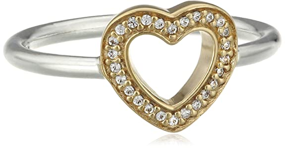 Pandora  Pearl Cubic Zirconia Silver Ring - Size L 190925CZ-52