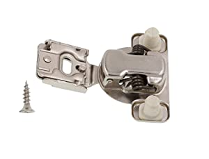 DECOBASICS Face Frame Cabinet Cupboard Door Hinges (20-Pack), ½ Inch Overlay. Quiet Soft Close Technology with Built-in Dampers. 3-Way Adjustability for Easy Installation. Heavy Duty Steel. (Color: Satin Nickel)