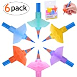 Pencil Grips for Kids Handwriting, Silicone Ergonomic 3 Fingers Posture Correction Finger Grip, Pencil Holding Trainer for Kids Adults, pencil training grips Arthritis Designed for Righties or Lefties (Color: 6 psc)