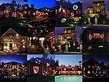 SMITHROAD-LED-Projektionslampe-12-Verschiedene-Muster-Strahler-fr-Halloween-Karneval-Weihnachten-Innen-Auen-Garten-Wand-Beleuchtung-IP65