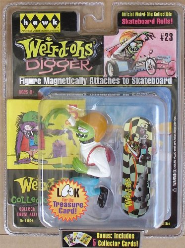Digger Action Figure with Custom Skateboard - 2008 Weird-ohs Series #23