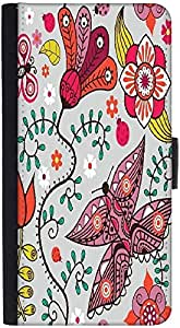 Snoogg Seamless Pattern With Butterflies And Flowers Graphic Snap On Hard Bac...