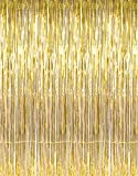Rhode Island Novelty 3 X 8 Gold Tinsel Foil Fringe Door Window Curtain Party Decoration