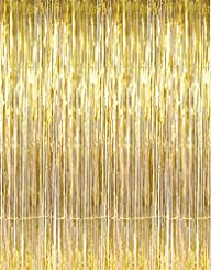 SUNBEAUTY 1 Set of Metallic Tinsel Foil Fringe Curtains for Party Photo Backdrop Wedding Decor…