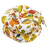 Greendale Home Fashions Round Outdoor Bistro Chair Cushion, 18-Inch, Skyworks, Set of 2