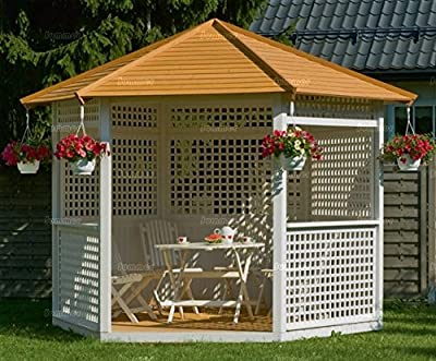 Wooden Hexagonal Garden Gazebo 10ft x 9ft OGD055