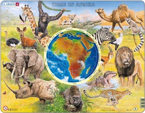 Puzzle Rahmen Les animaux d Afrique (90 pieces A) AW02 Larsen