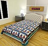 RajasthaniKart 100% Cotton Single Bedsheet