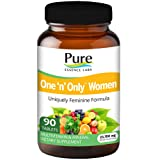 Pure Essence Labs One N Only Multivitamin for Women - Natural One a Day Herbal Supplement with Vitamin D, D3, B12, Biotin - 90 Tablets (Tamaño: 90)