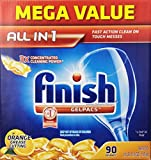 Finish Gelpacs Dishwasher Detergent, Orange Scent, 90 Count (Pack of 3 (90 ct ea))