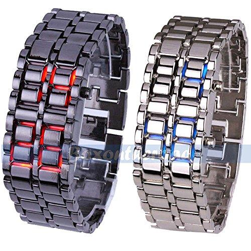 Super Bargain!!! New Model!! Volcanic Lava Iron Samurai Metal Faceless Bracelet Fashion Led Wrist Watch In Jewelry