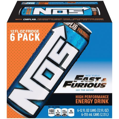 6 Pack - NOS Energy Drink - 12oz. (Nos Energy Drinks compare prices)