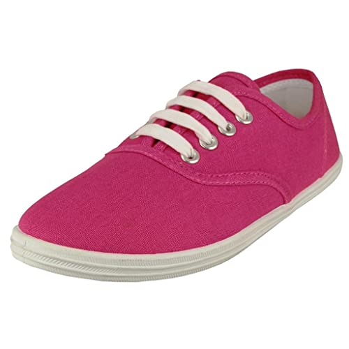 EasySteps Womens Canvas Lace Up Shoes with Padded Insole