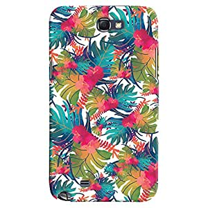 ColourCrust Samsung Galaxy Note 2 Mobile Phone Back Cover With Colourful Abstract Art - Durable Matte Finish Hard Plastic Slim Case