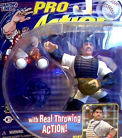 Mike Piazza Action Figure of the New York Mets with Real Throwing Action! - 1998 Starting Lineup Pro Action Baseball