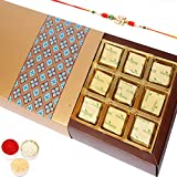 Rakhi Gifts Sweets- Gold 16 Pcs Mewa Bites Box-r2