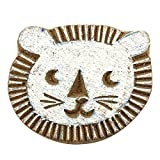 Pottery Stamps Lion Face Stamp Textile Printing Block Wood Block Stamp