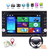 EinCar Double 2 Din in Dash Car DVD Player Car Stereo GPS Navigation Autoradio Bluetooth Car Radio 6.2 inch Touchscreen Support SWC USB SD MP3 FM AM RDS AUX in Video Head Unit Rear Camera Input (Color: Double din gps car radio)