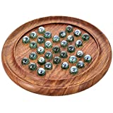Set Of 12 - Handmade Indian Round Wooden Game Board Gifts Set With Glass Marbles - Return Gifts For Kids