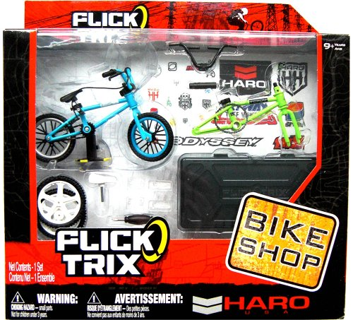 Imagen 2 de Flick Trix 6014025 Bike Shop - Bicicleta en miniatura con piezas de sustitución [Importado de Alemania]