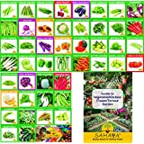 46 Varieties Of High Quality(Organic/Hybrid) Fruits & Vegetables Seeds Combo Kit For Healthy Plants For Kitchen/Terrace/Poly House/ Garden 1985+ Seeds With Free Instructions Manual