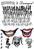 NEW-The-Joker-Temporary-Tattoos-Suicide-Squad-Costume-Halloween-Fancy-Dress-Batman