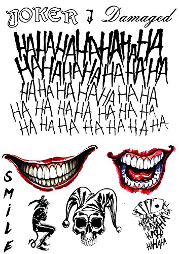 08c950665 NEW! The Joker Temporary Tattoos Suicide Squad Costume Halloween ...