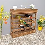 Weinregal dunkelbraun für 24 Flaschen Flaschenregal Holz Wein Regal Board