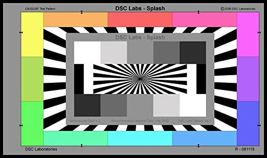 Camera Test Card Splash Camera Alignment Test